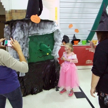 Photo of students at Halloween party