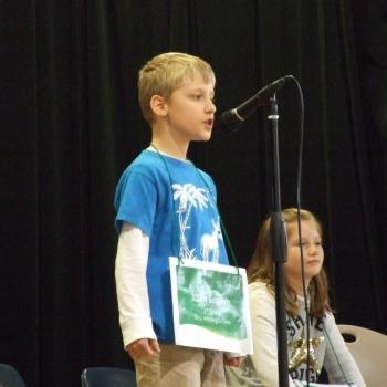 Photo of student speller