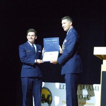 Photo of JROTC awards
