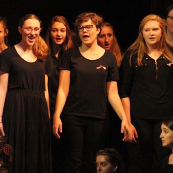photo of students singing