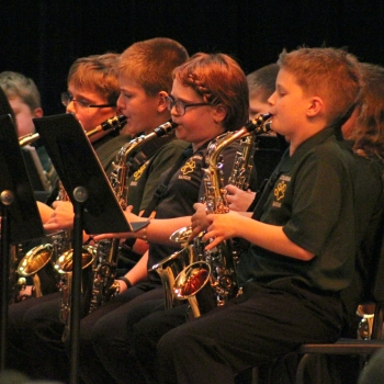 photo of students performing