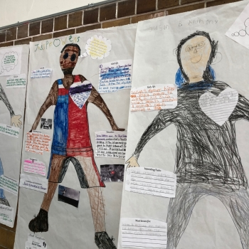 Photo of student drawings
