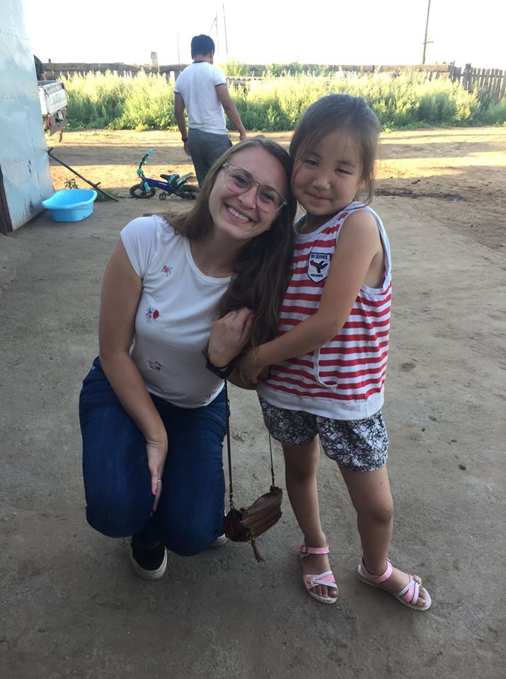 Photo of alex with young girl