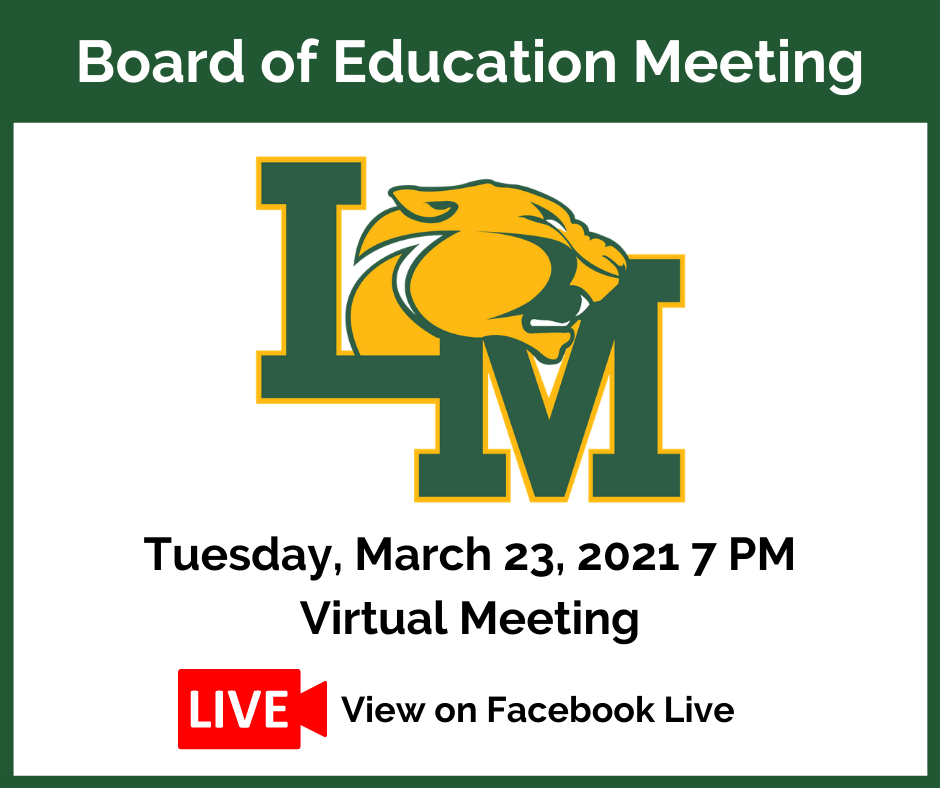 March Board of education meeting notice