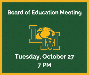 board of education meeting - October 27 at 7