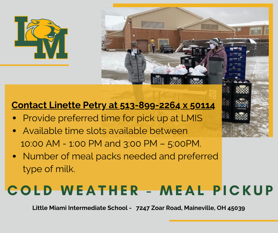 Cold Weather VLA Meal Pickup Information