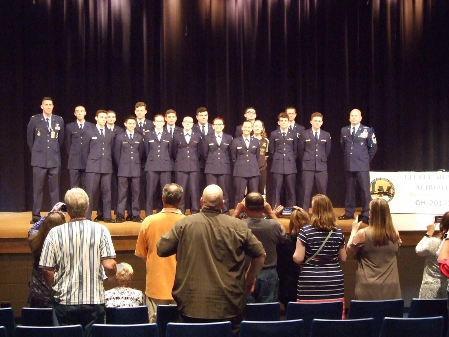 Photo of JROTC group
