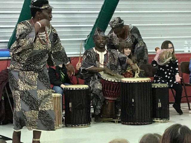 Photo of African drum troupe