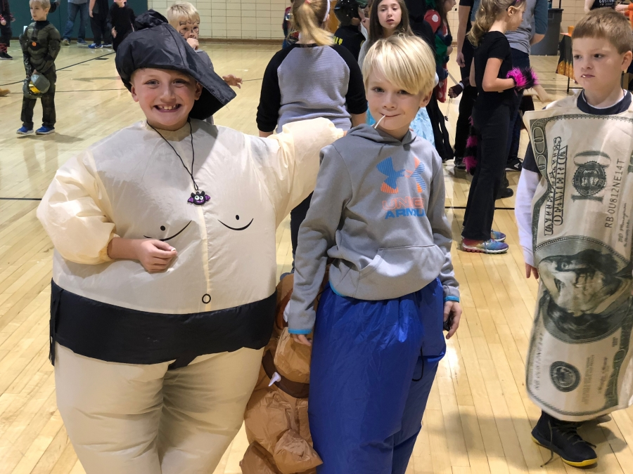photo of students in costume