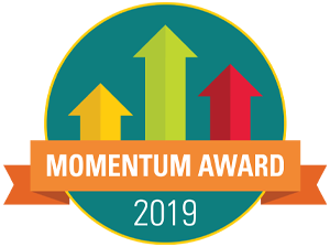photo of momentum award logo