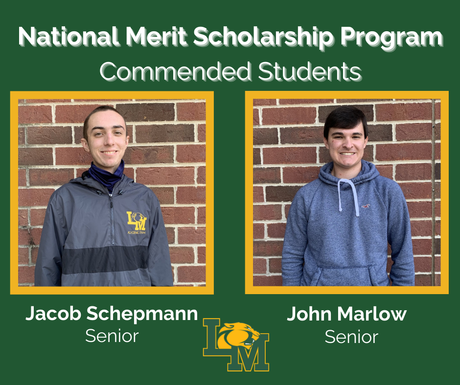 The two Commended Students John Marlow and Jacob Schepmann are pictured.