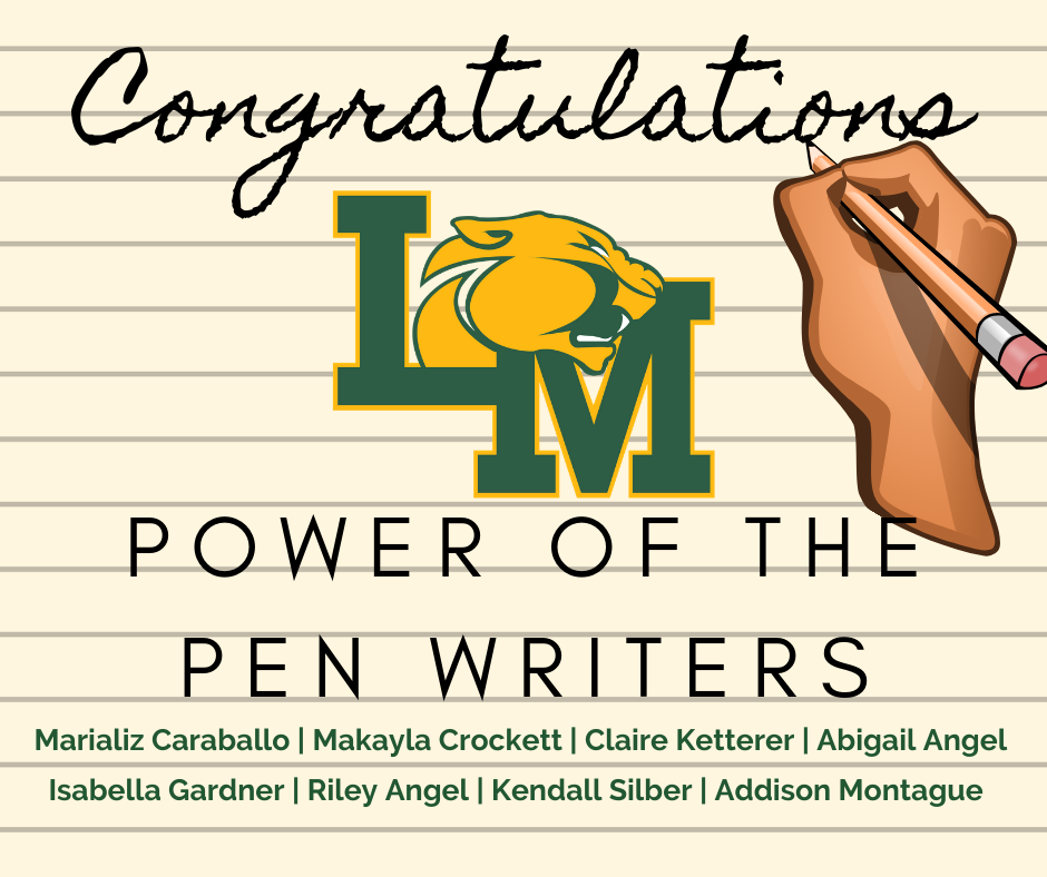 Congratulations to the Power of the Pen Writing Team