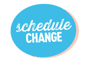 Schedule change logo