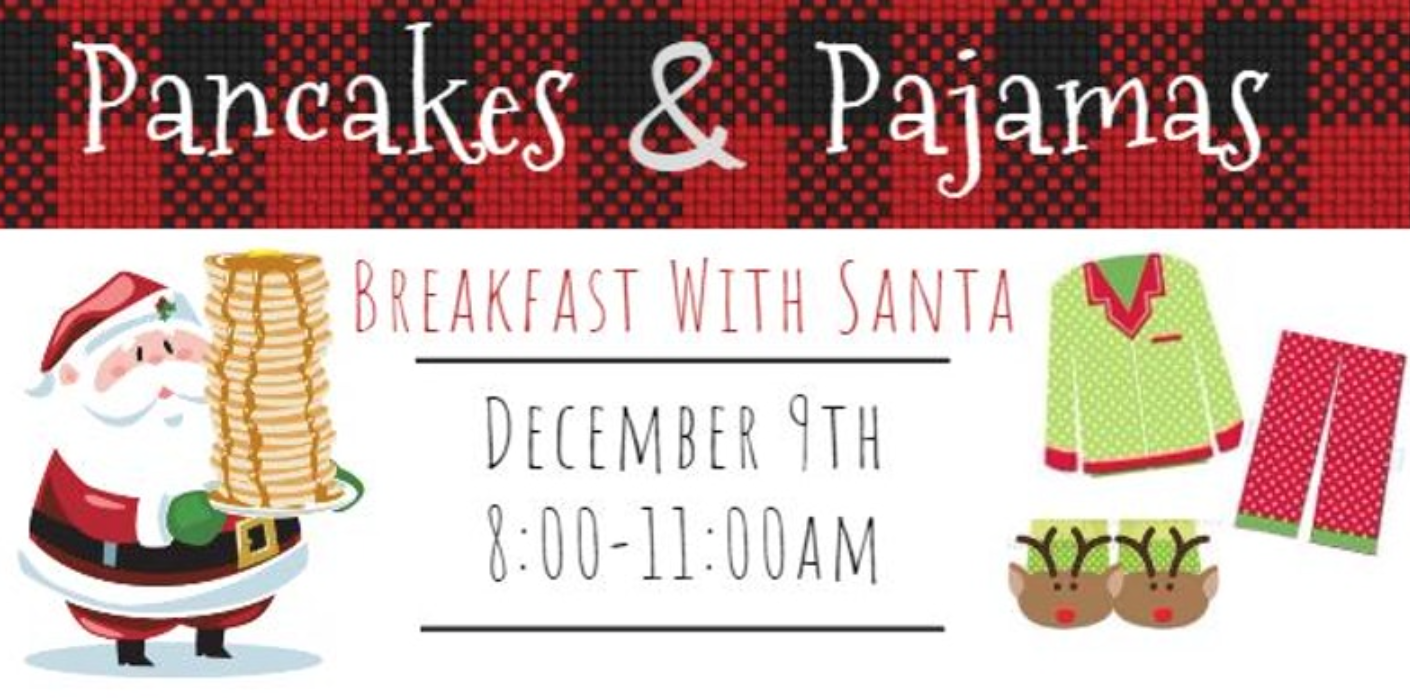 Photo of breakfast with santa banner