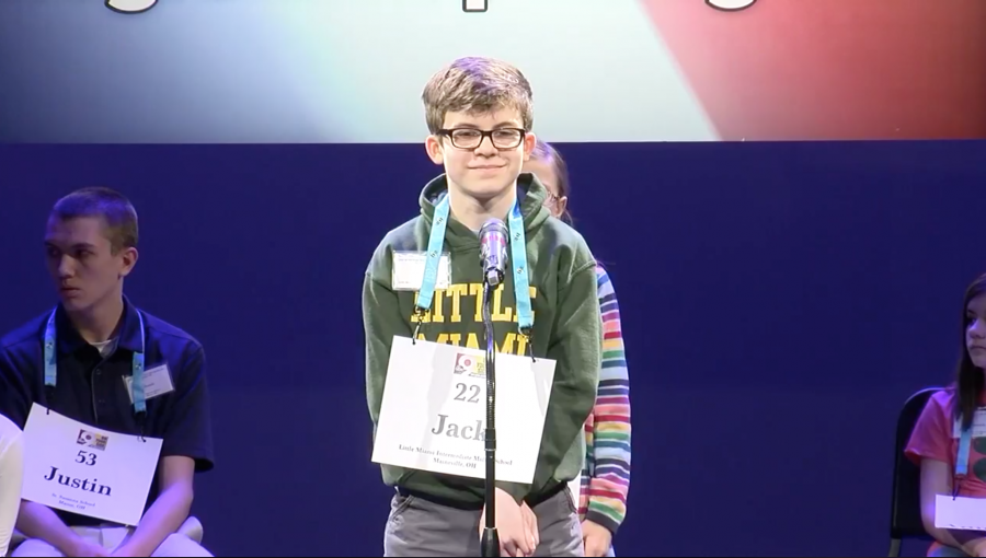 Photo of spelling bee student