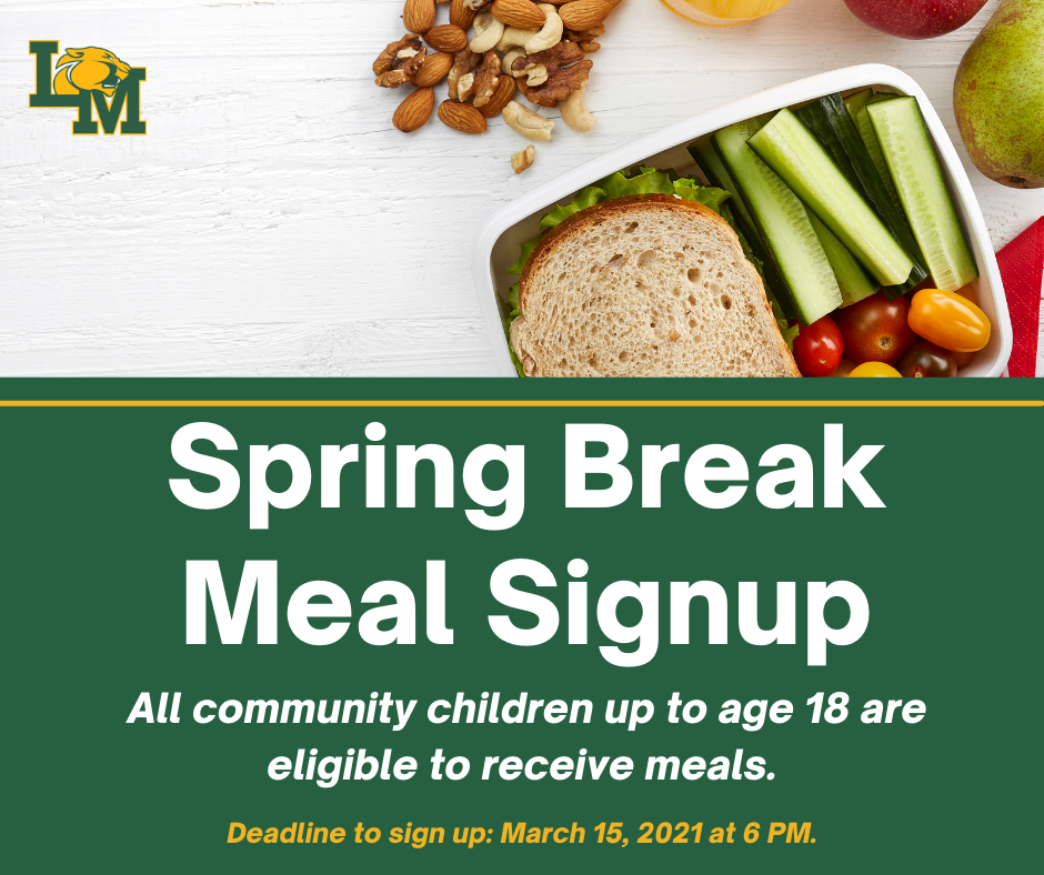 Spring Break Meal Pack Sign Up
