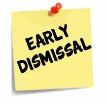 Photo of early dismissal logo