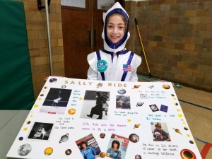 photo of student in costume