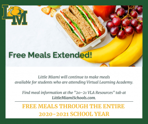 free meals extended information with picture of lunch