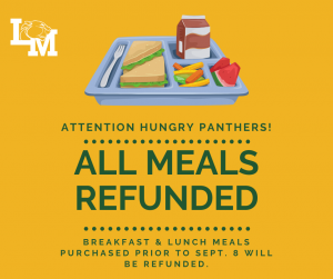 Lunch tray with All Meals Refunded Information