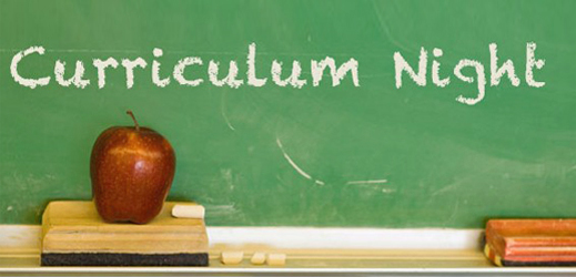 Photo of curriculum night logo