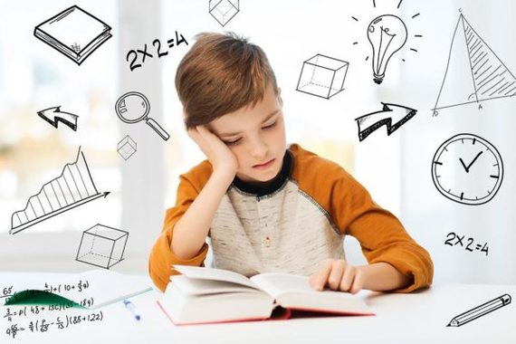 photo of student doing homework