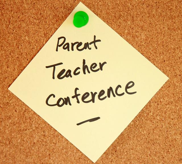 Photo of parent teacher conference