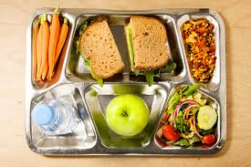 Photo of school lunch